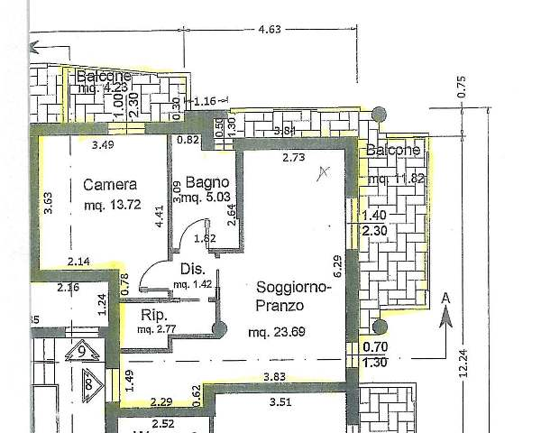 Appartamento vendita MONTEPRANDONE (AP) - 2 LOCALI - 55 MQ