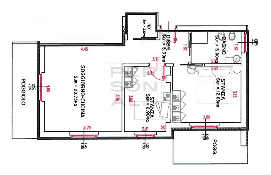 Appartamento in vendita a Pergine Valsugana, 3 locali, zona Zona: Pergine, prezzo € 220.000 | CambioCasa.it
