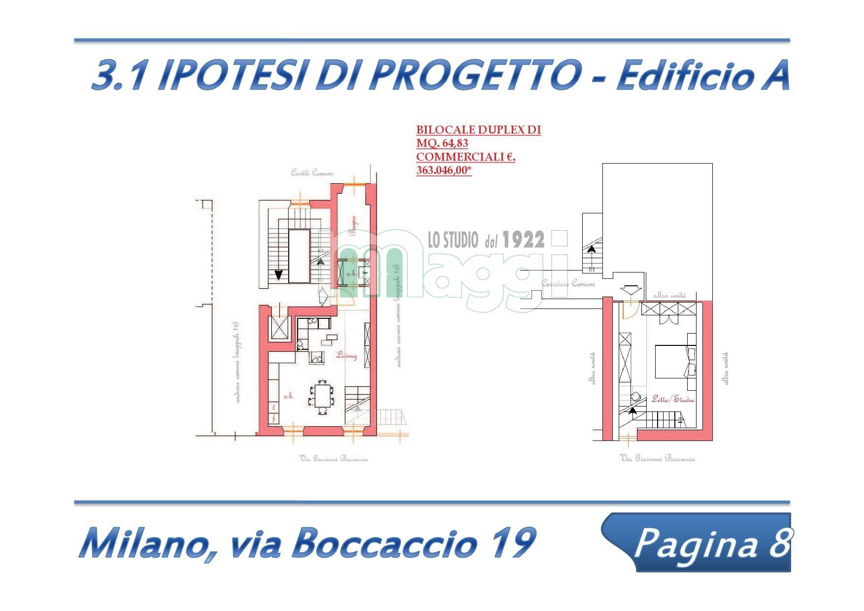 Bilocale Milano Via Boccaccio 10