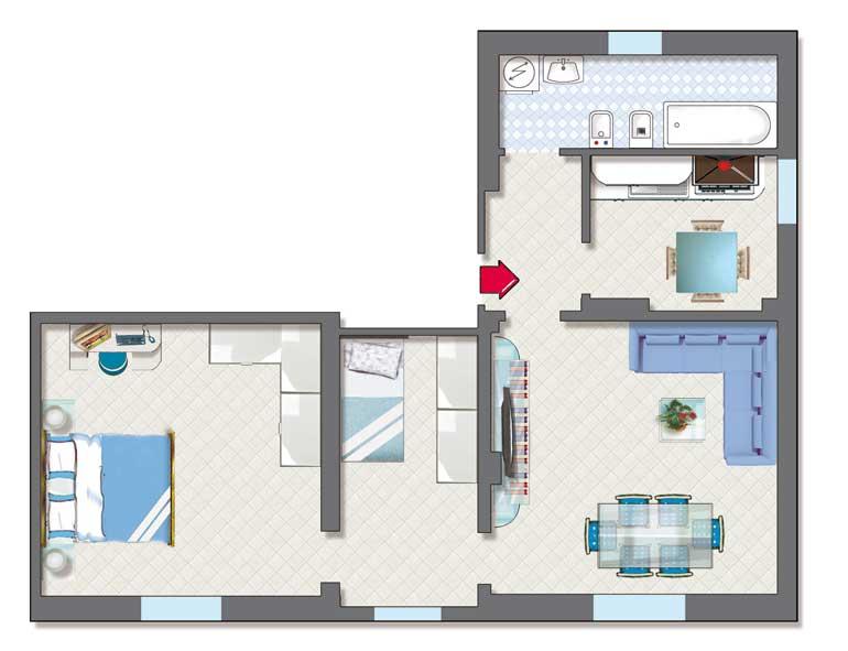Appartamento in vendita a Castello d'Argile, 3 locali, prezzo € 60.000 | Cambio Casa.it