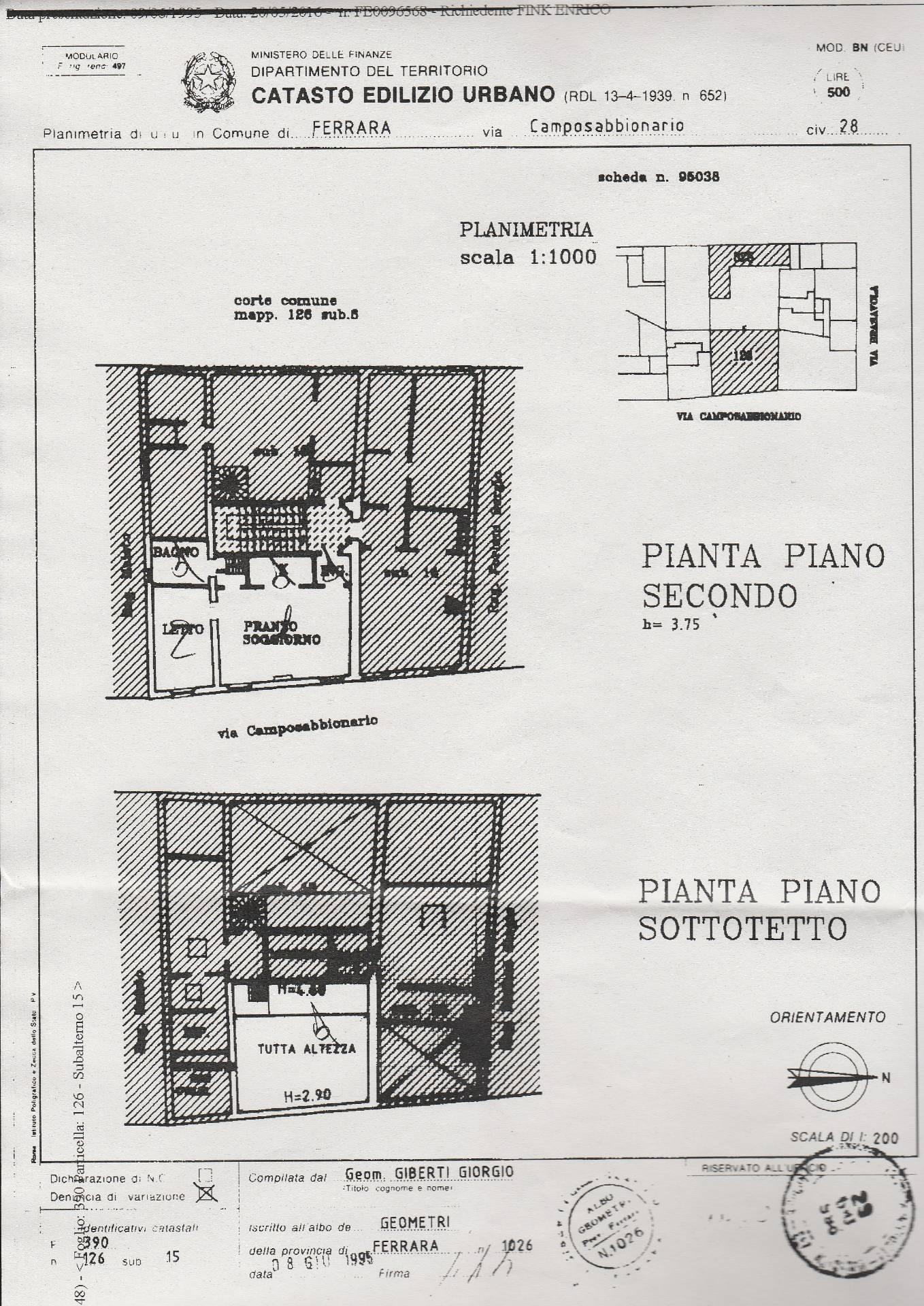 Bilocale Ferrara Via Camposabbionario 2