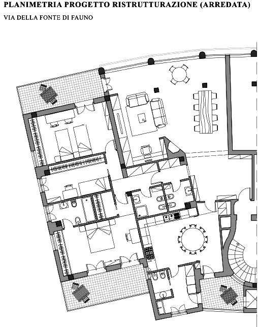 Famoso Appartamento di lusso in vendita a Roma Via Della fonte di fauno  MN55