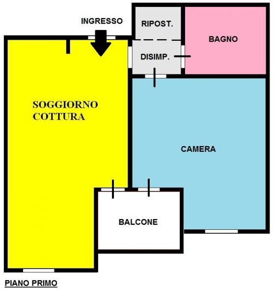 Bilocale Pisa Via Emilia 1