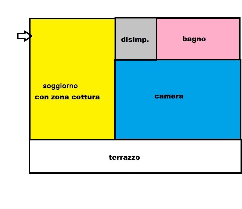 Appartamento in affitto a Pisa, 2 locali, zona Zona: Cisanello, prezzo € 480 | Cambio Casa.it