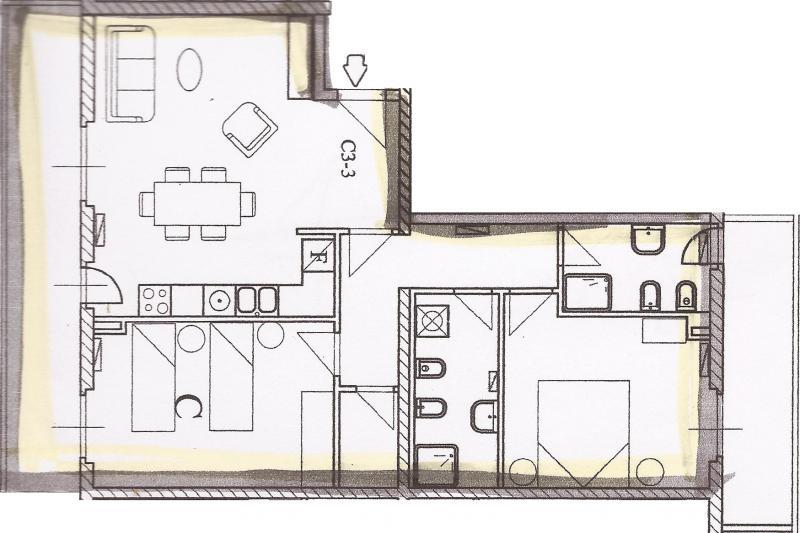 Appartamento vendita FOLIGNANO (AP) - 4 LOCALI - 83 MQ