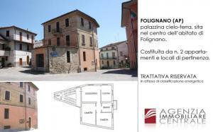 edificio cielo terra in Vendita a Folignano
