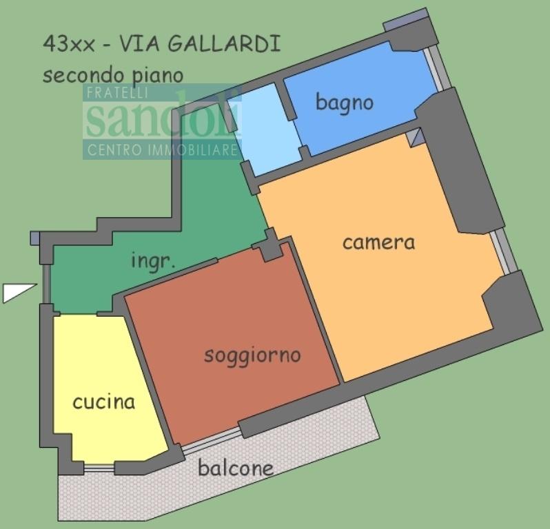 Bilocale Vercelli Via C. Gallardi 2