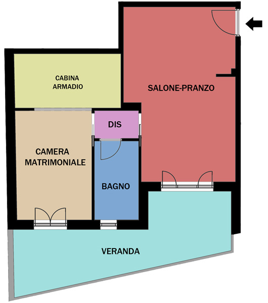 Bilocale Settimo San Pietro Ingresso Paese 9