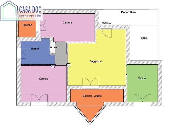 Appartamento in vendita a Siziano, 3 locali, prezzo € 135.000 | Cambio Casa.it