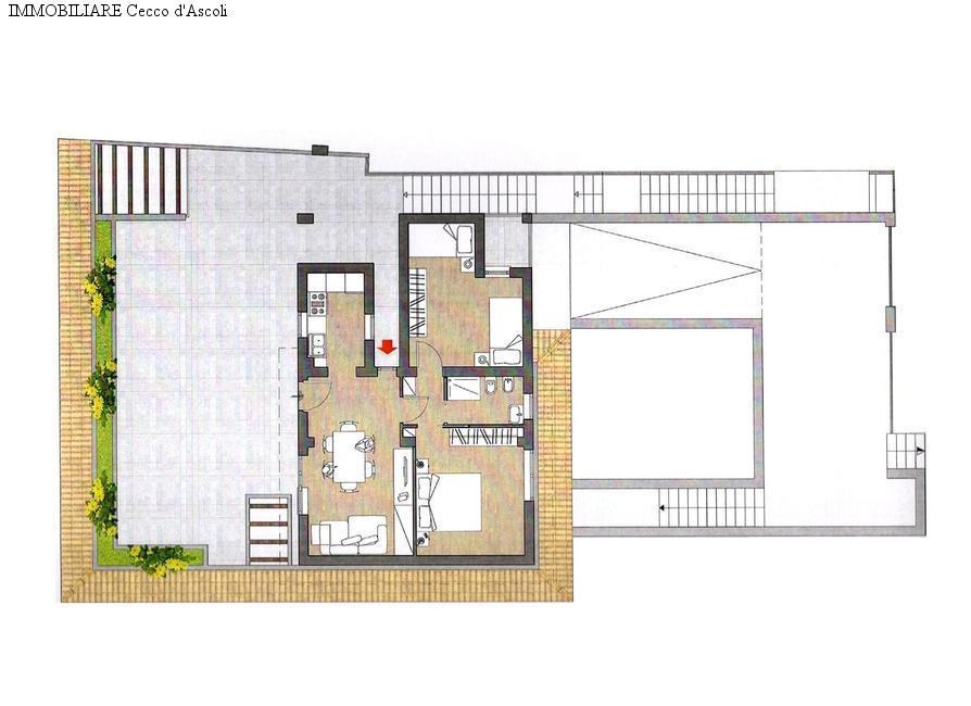 Appartamento in vendita a Ascoli Piceno, 6 locali, zona Località: CampoParignano, Trattative riservate   Cambio Casa.it