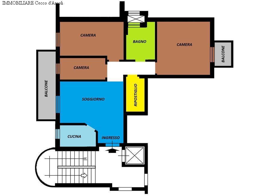 Appartamento in vendita a Ascoli Piceno, 7 locali, prezzo € 110.000 | Cambio Casa.it