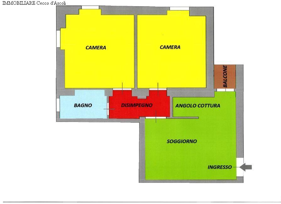 Appartamento in vendita a Ascoli Piceno, 3 locali, prezzo € 98.000 | Cambio Casa.it