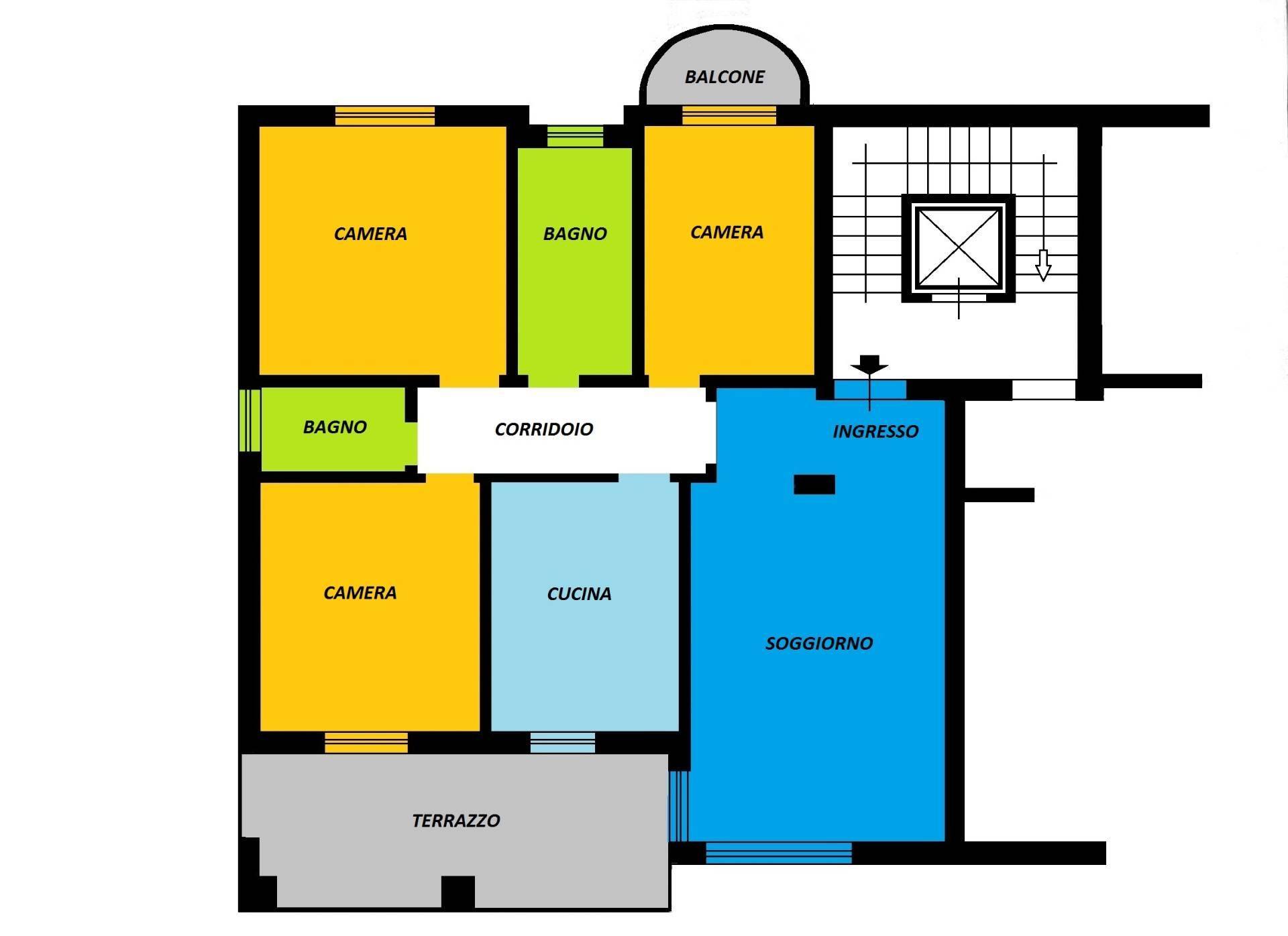 Appartamento in vendita a Ascoli Piceno, 5 locali, zona Zona: Monticelli, prezzo € 150.000 | Cambio Casa.it