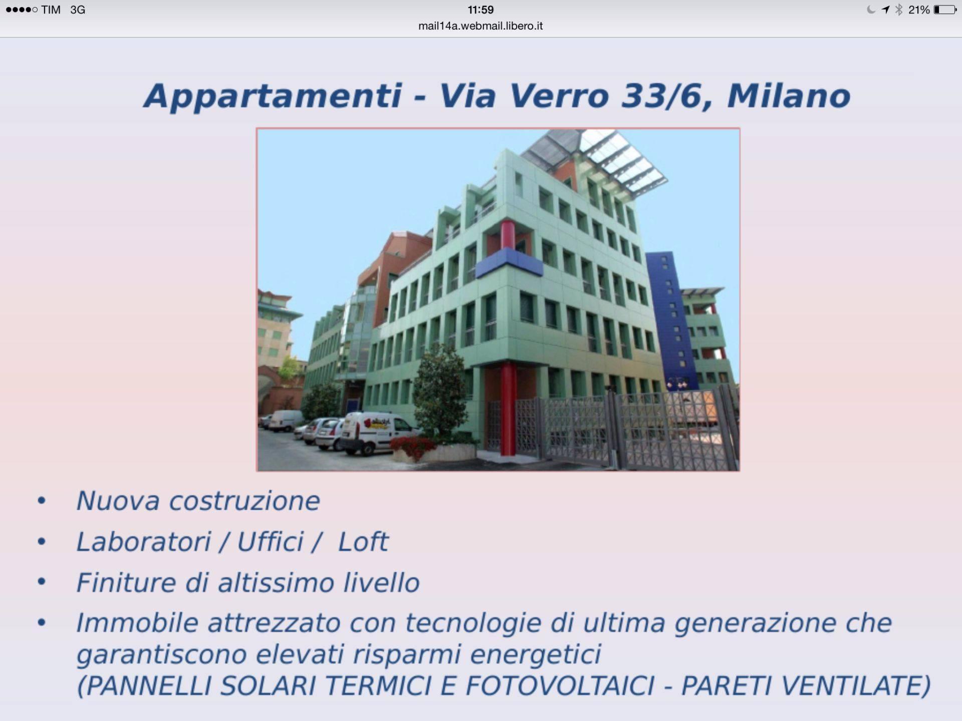Bilocale Milano Via Bernardino Verro 8