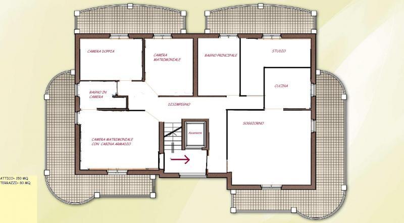 Attico / Mansarda in vendita a San Benedetto del Tronto, 6 locali, zona Località: residenziale, Trattative riservate | CambioCasa.it