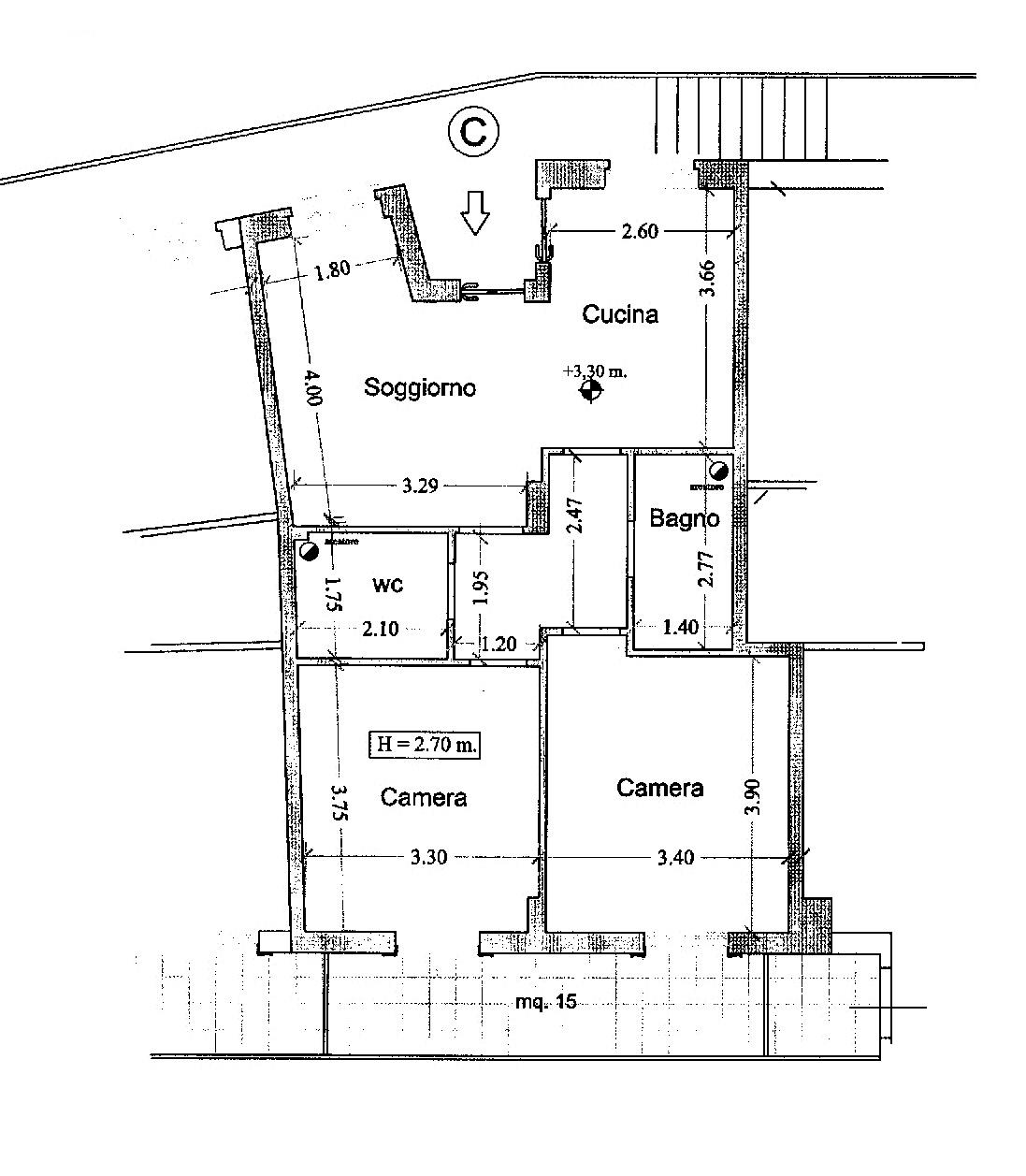 Appartamento in affitto a Acquaviva Picena, 3 locali, prezzo € 360 | CambioCasa.it