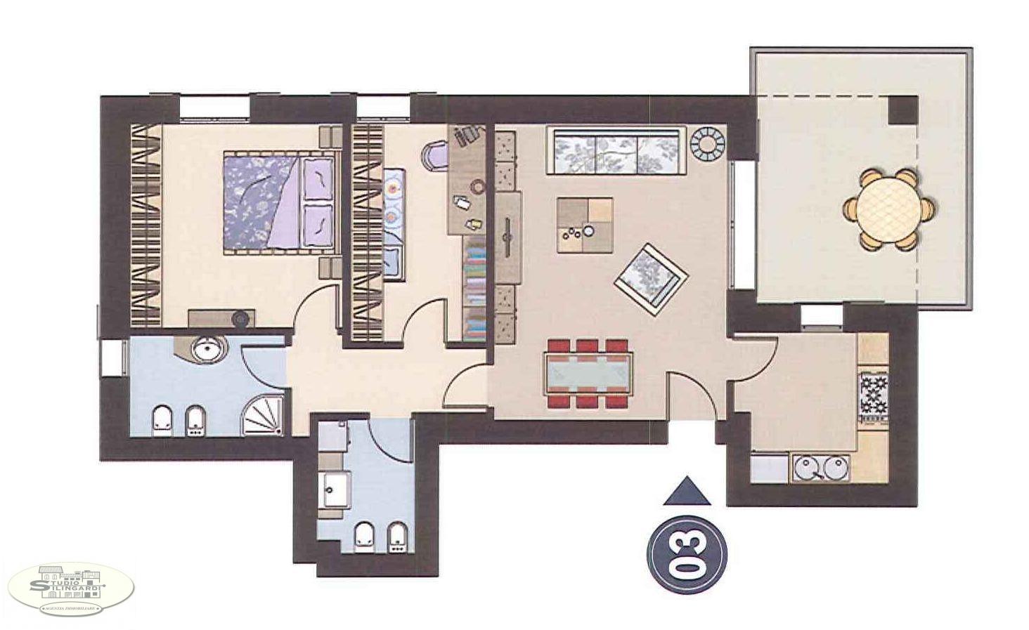 Appartamento in vendita a Formigine, 4 locali, zona Zona: Casinalbo, Trattative riservate   Cambio Casa.it