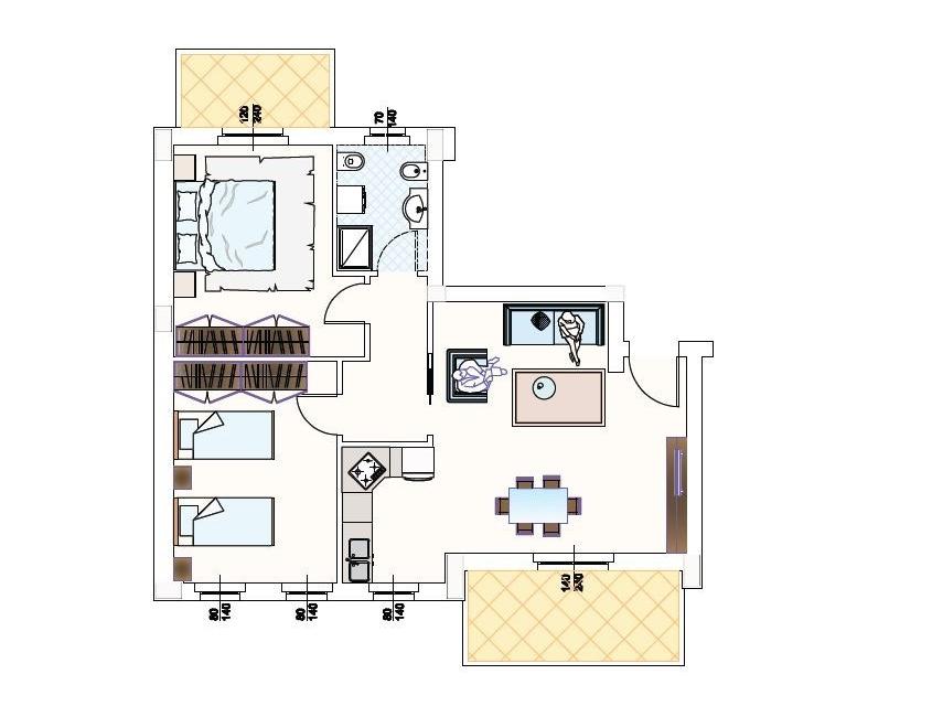Appartamento in vendita a Monteprandone, 3 locali, zona Zona: Centobuchi, prezzo € 139.000 | Cambio Casa.it