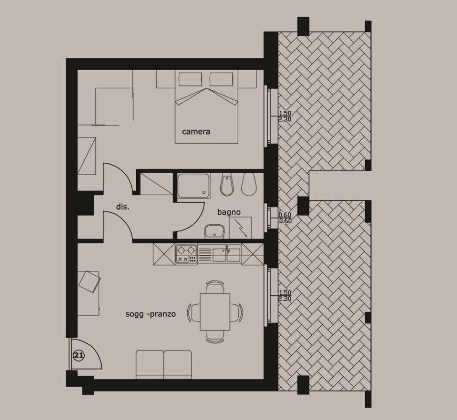 Appartamento in vendita a Grottammare, 2 locali, zona Località: Lungomare, prezzo € 173.000   Cambio Casa.it