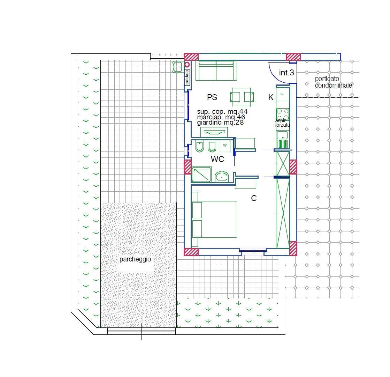 Appartamento in vendita a Acquaviva Picena, 2 locali, prezzo € 100.000 | Cambio Casa.it