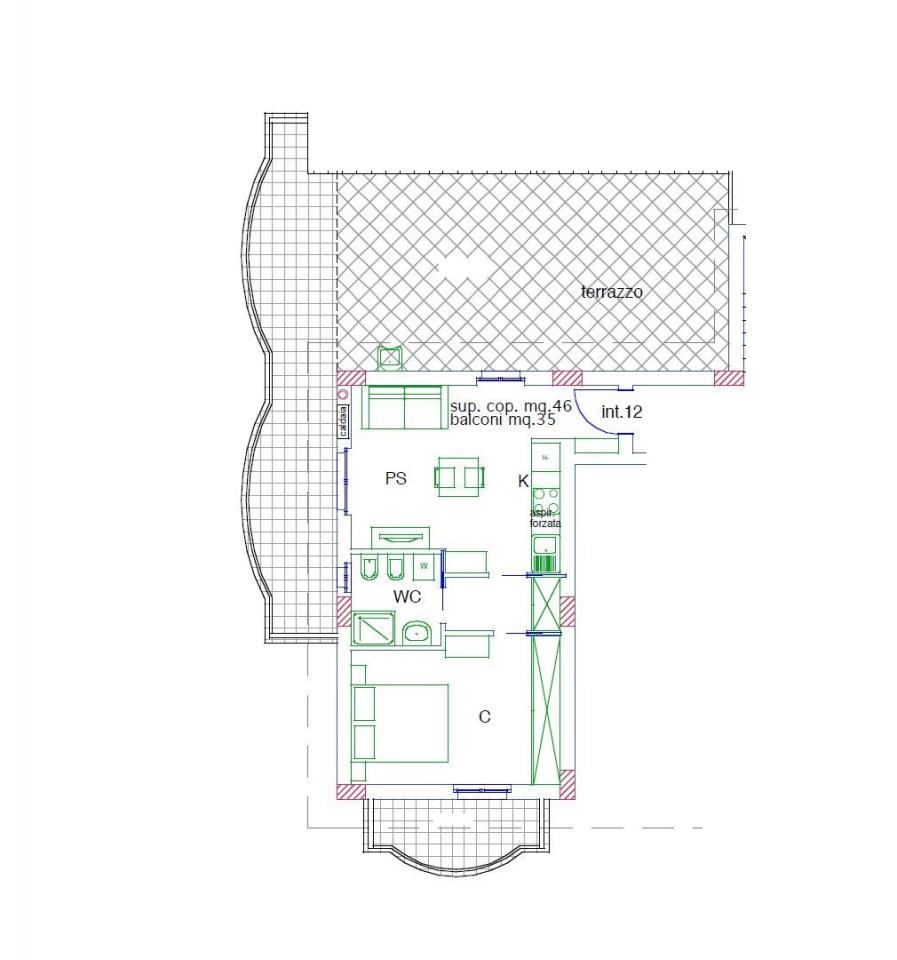Appartamento in vendita a Acquaviva Picena, 2 locali, prezzo € 120.000   Cambio Casa.it