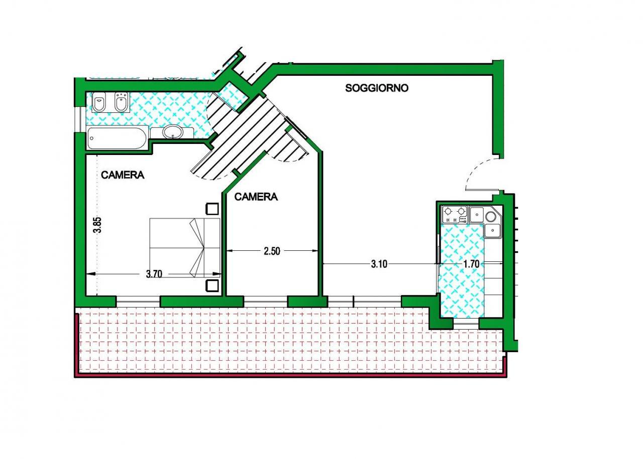 Appartamento in vendita a Folignano, 3 locali, zona Località: VillaPigna, prezzo € 140.000 | Cambio Casa.it