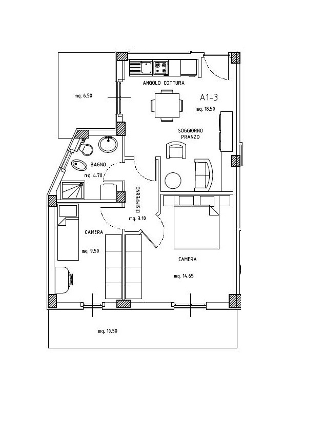 Appartamento in vendita a Folignano, 3 locali, zona Località: VillaPigna, prezzo € 85.000 | Cambio Casa.it