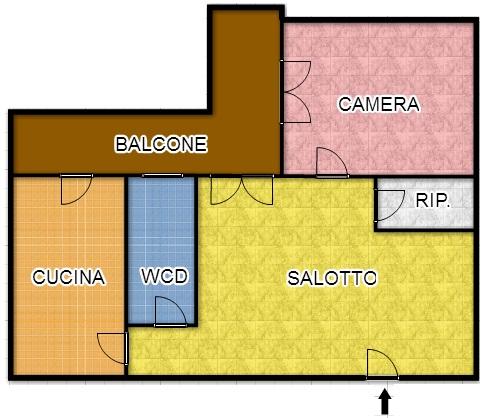 Bilocale Palermo Via Carlo Goldoni 2