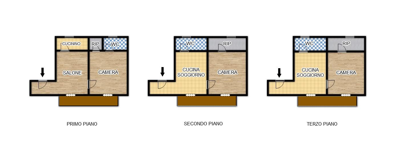 Palazzo / Stabile in vendita a Palermo, 6 locali, zona Località: BorgoVecchio, prezzo € 160.000   Cambio Casa.it