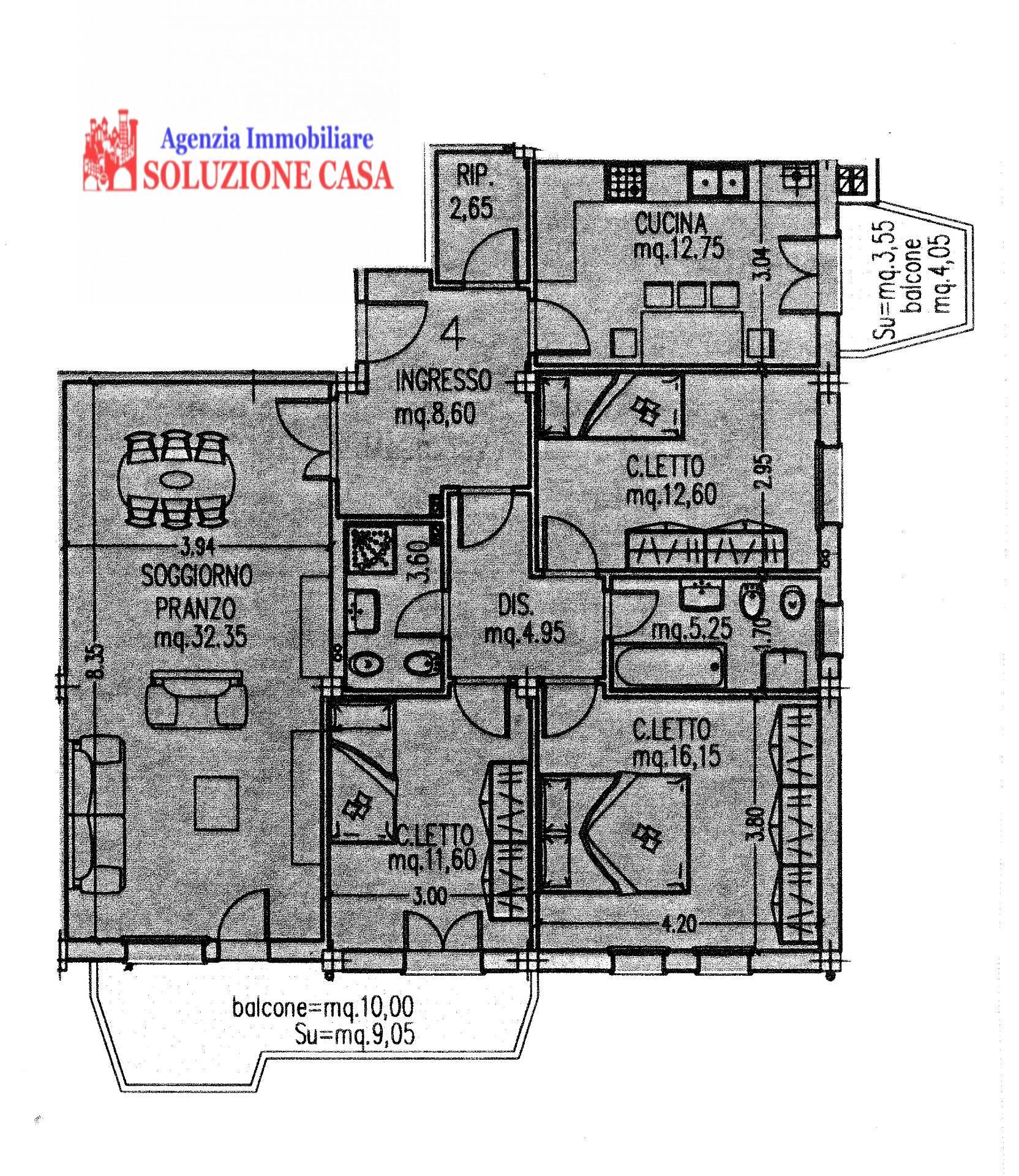 Appartamenti in vendita affitto a i migliori immobili a for Casa con 3 camere da letto con garage in vendita