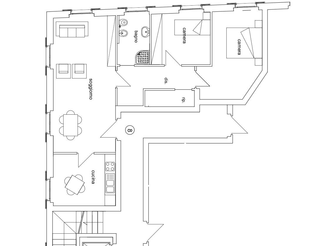 Appartamento in vendita a Livorno, 4 locali, zona Località: Centrostorico, prezzo € 250.000   CambioCasa.it