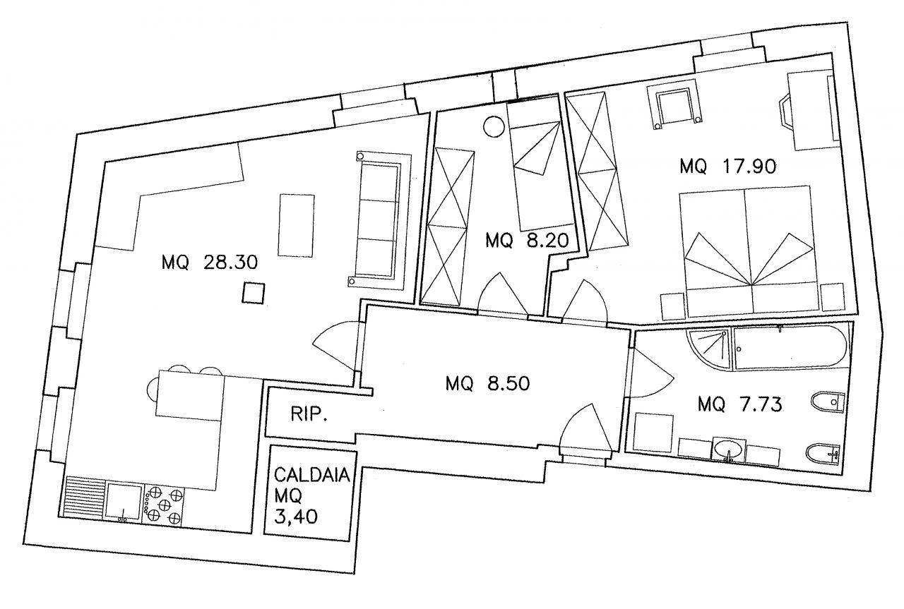 Appartamento in vendita a Calavino, 5 locali, prezzo € 125.000 | Cambio Casa.it