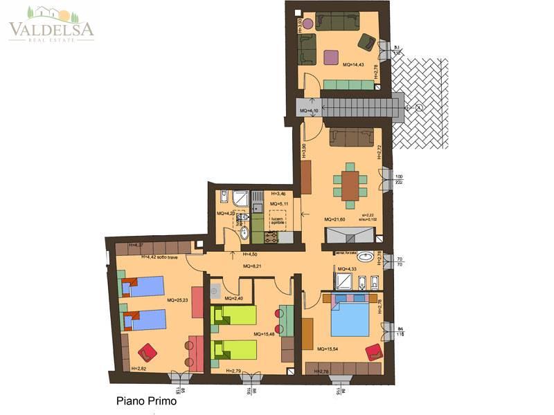 Rustico / Casale in vendita a Poggibonsi, 6 locali, zona Località: CAMPAGNA, prezzo € 350.000   Cambio Casa.it