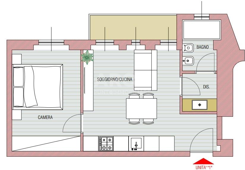 vendita appartamento milano loreto  267000 euro  2 locali  50 mq