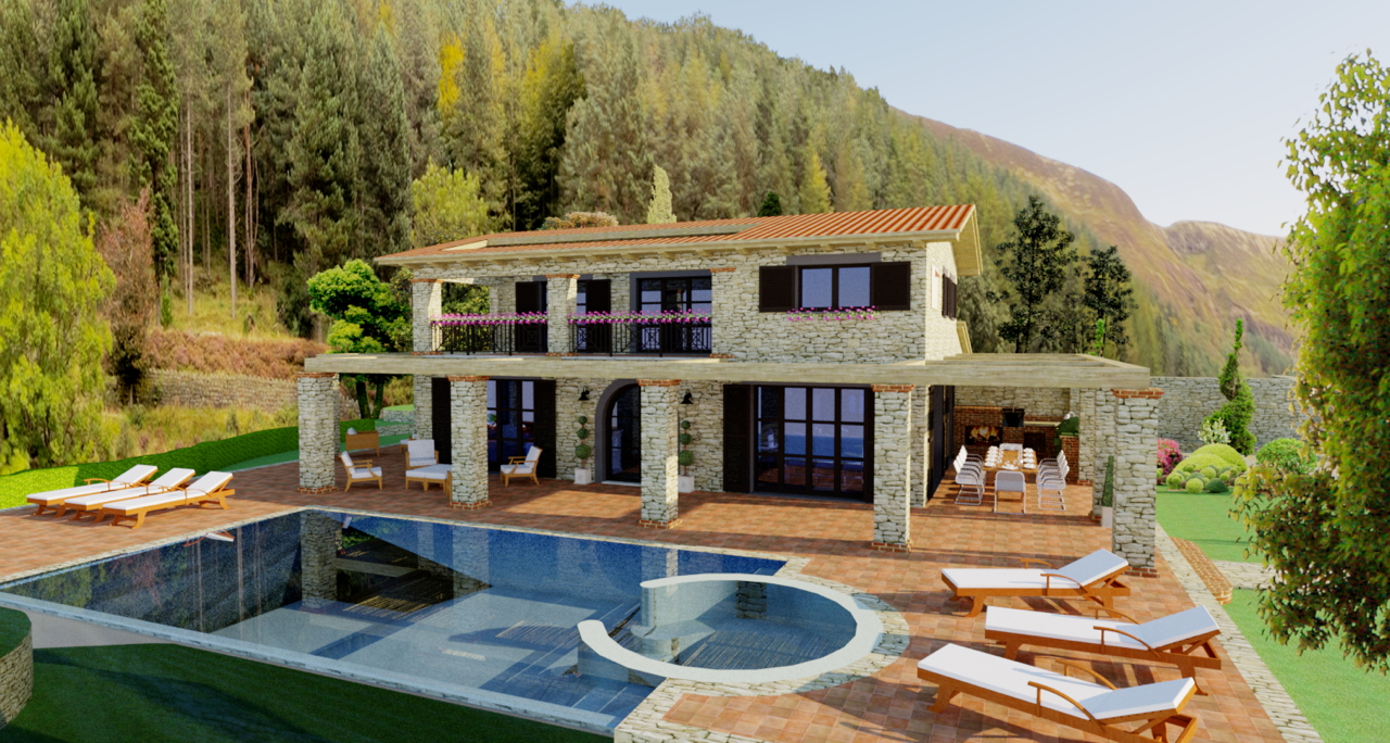 Villa singola in vendita cod re00033 villa altissima for Vendita design