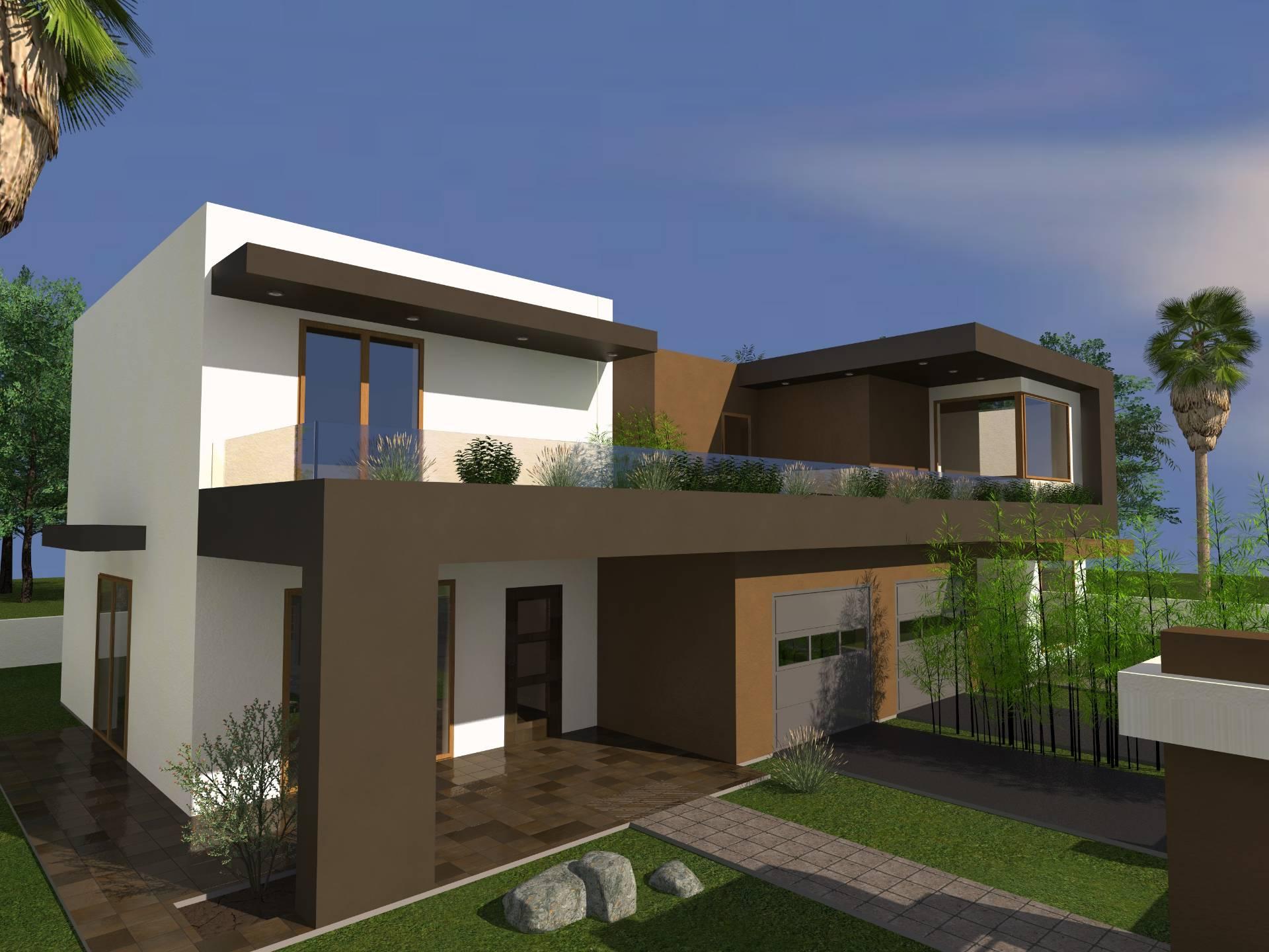 Villa bifamiliare in vendita a cepagatti cod 13 - Progetto di casa moderna ...