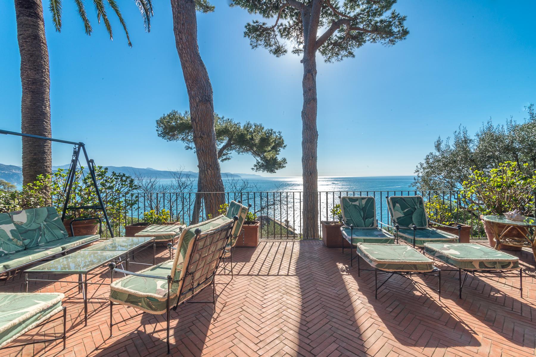 Splendida villa con vista sul golfo di Portofino