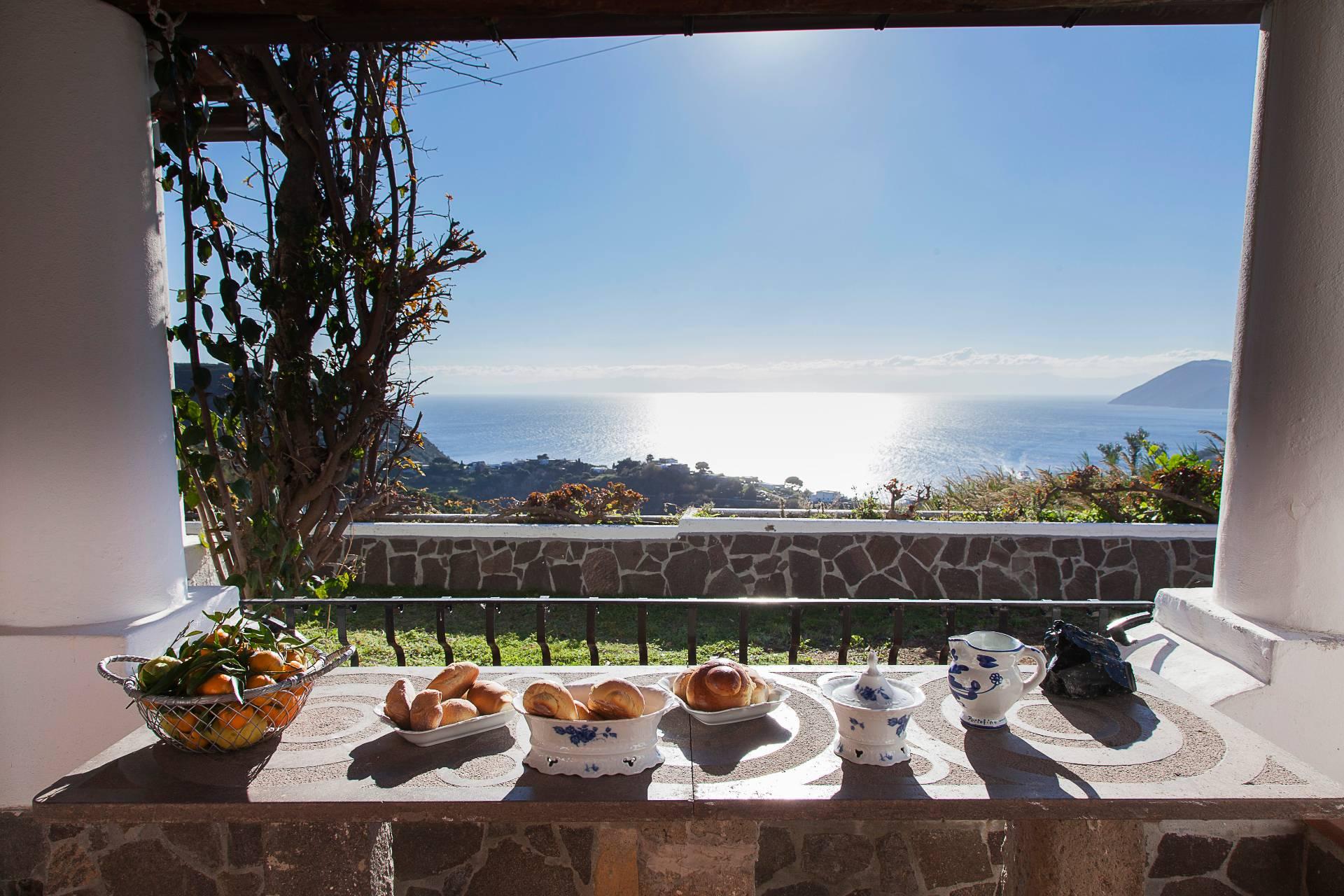 Panoramic seaview villa in Lipari Isaland