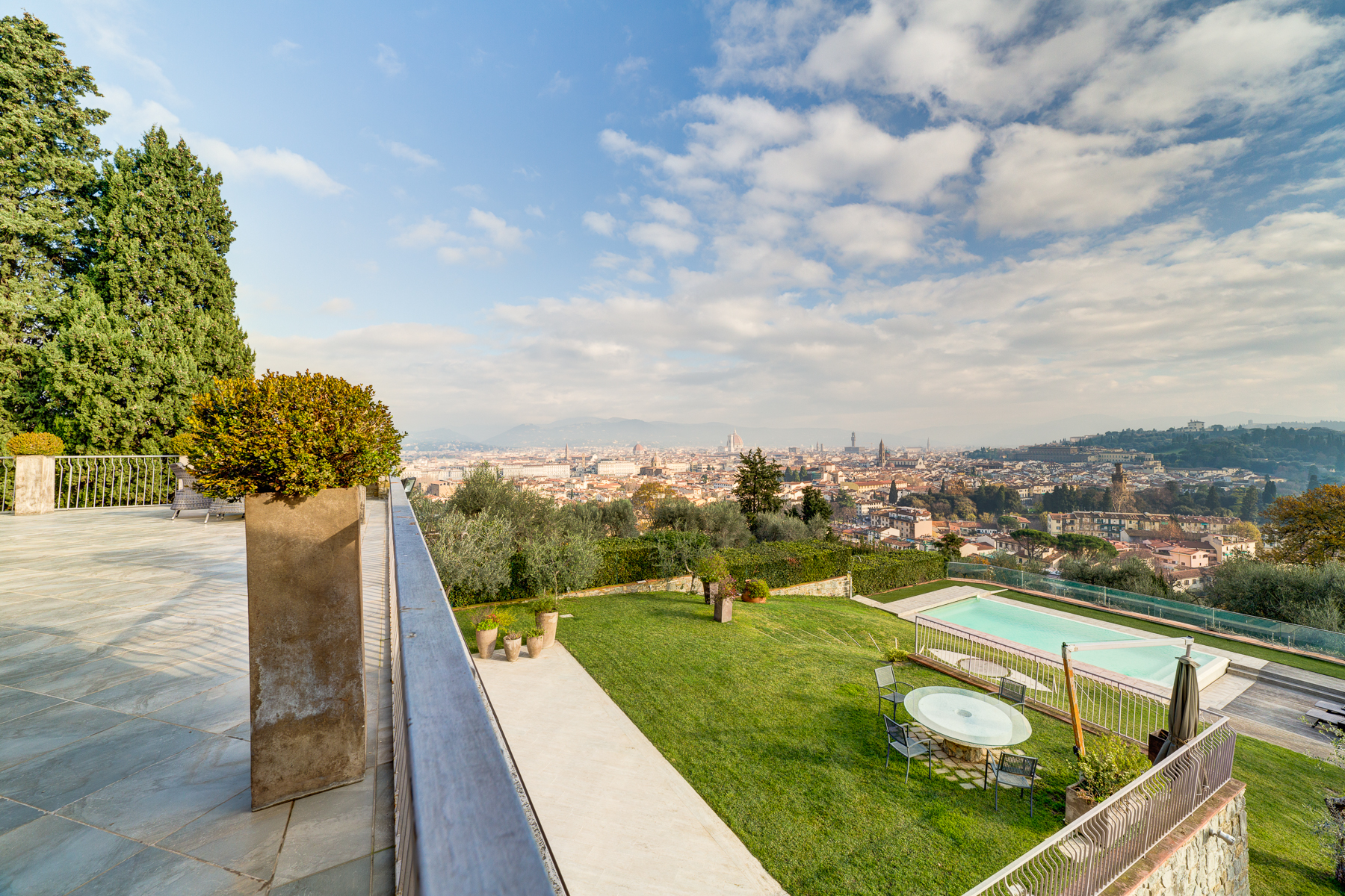 A truly unique villa with views over florence