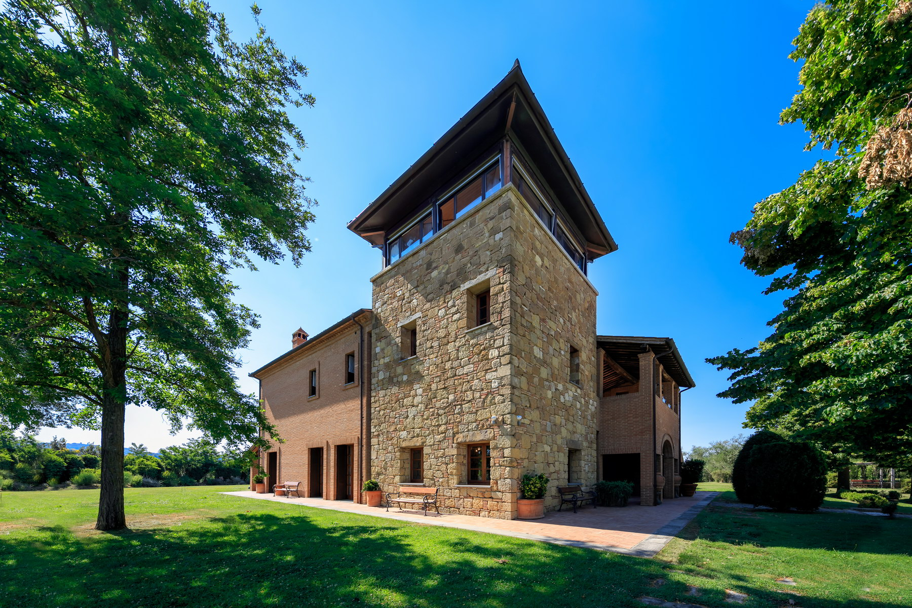 Wonderful villa with spectacular views of montepulciano