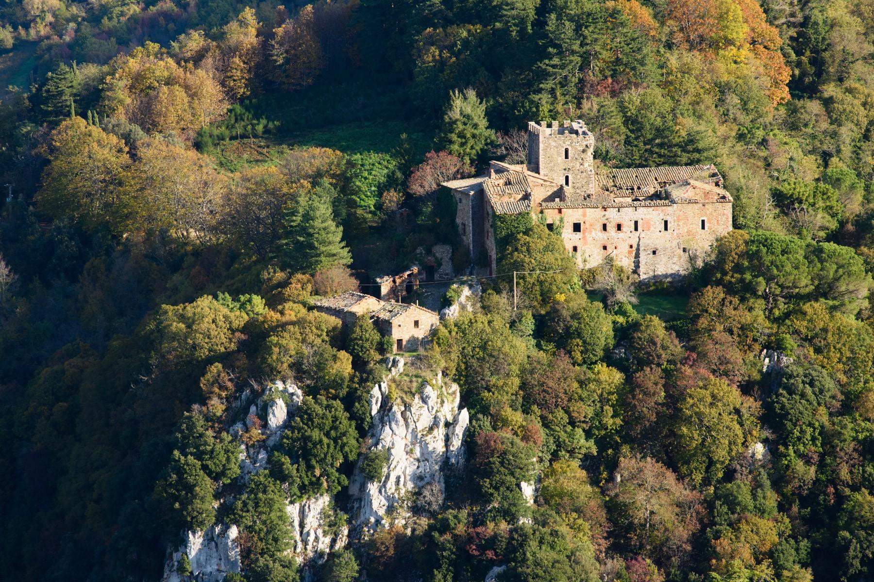 Castello medioevale con riserva di caccia, azienda vitivinicola e coloniche