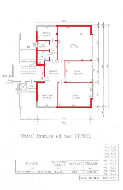Studio/Ufficio in Affitto a Jesolo