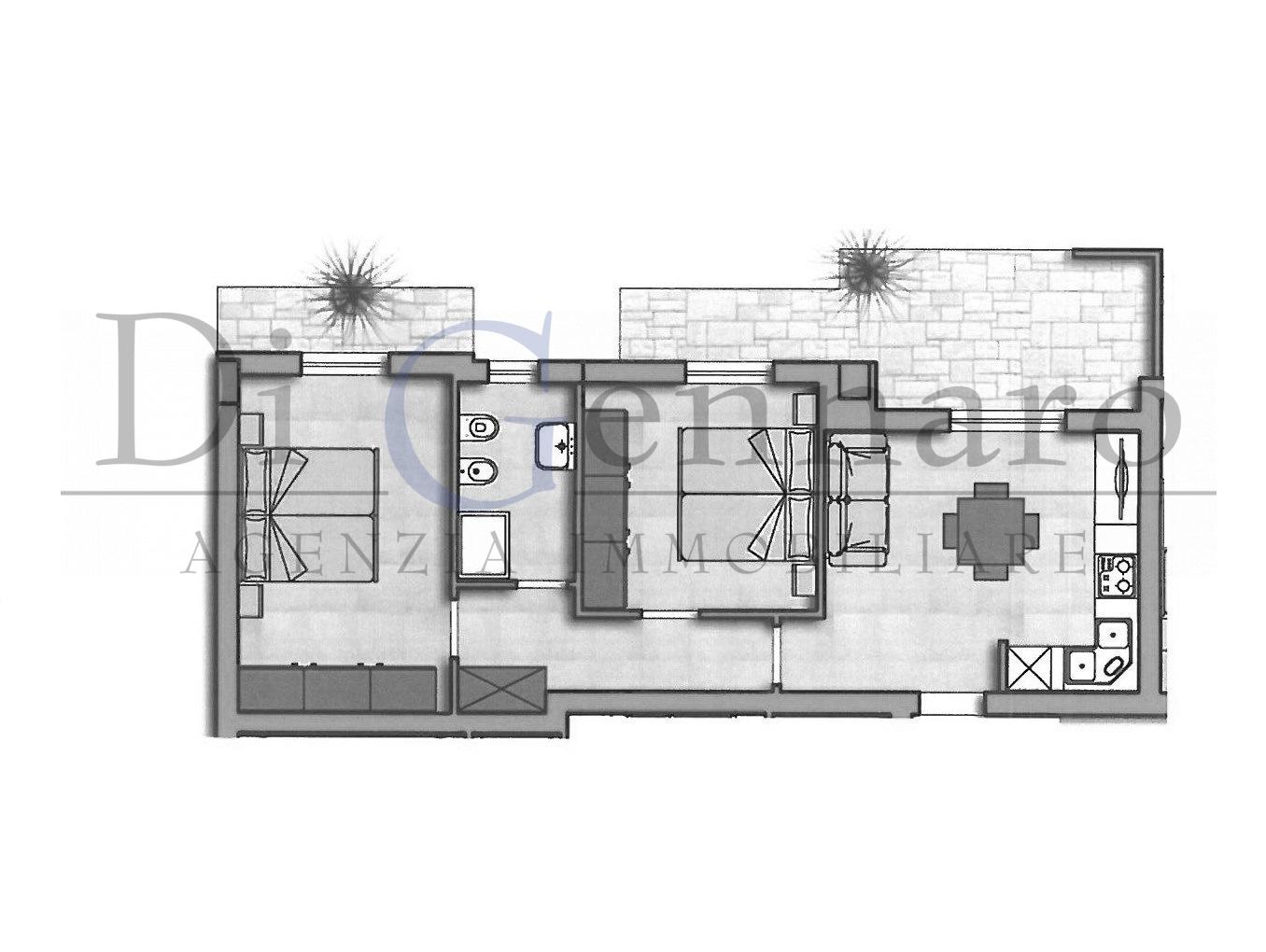 vendita appartamento alba adriatica zona mare  129000 euro  3 locali  60 mq