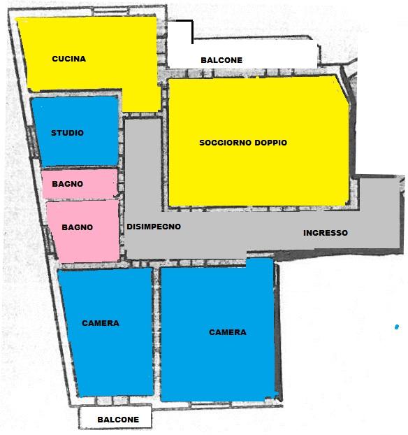 Appartamento in affitto a Pisa, 5 locali, zona Località: S.Antonio, prezzo € 850 | Cambio Casa.it