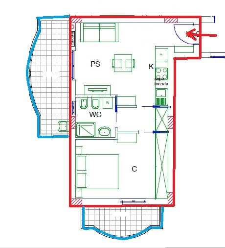 Appartamento in vendita a Acquaviva Picena, 2 locali, zona Zona: Abbadetta, prezzo € 92.000 | CambioCasa.it