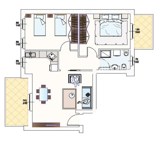 Appartamento in vendita a Monteprandone, 3 locali, zona Zona: Centobuchi, prezzo € 165.000 | CambioCasa.it