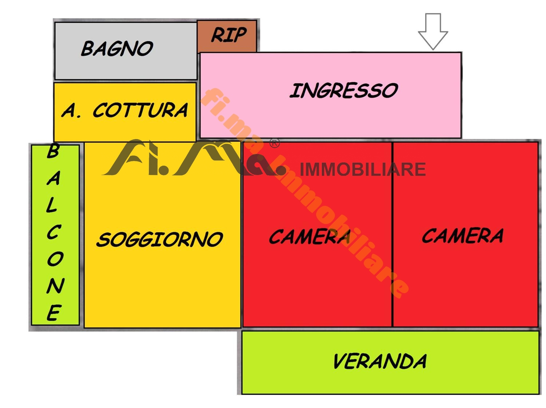 Appartamento in vendita a Quiliano, 3 locali, zona Zona: Valleggia, prezzo € 135.000 | CambioCasa.it
