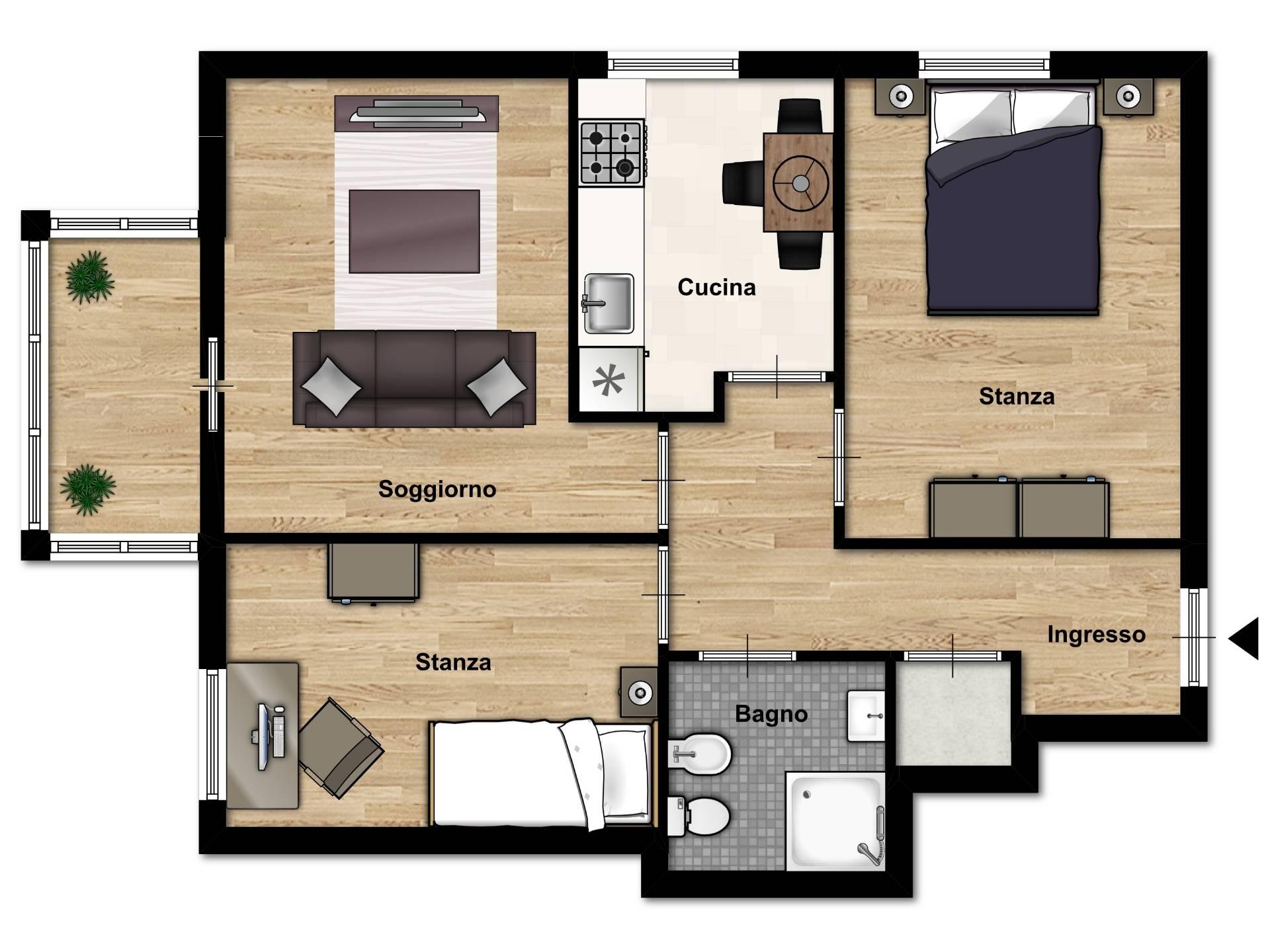vendita appartamento trento s. bartolomeo  148000 euro  5 locali  71 mq