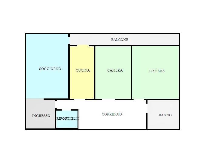 Appartamento in affitto a Fiorenzuola d'Arda, 3 locali, prezzo € 450 | CambioCasa.it