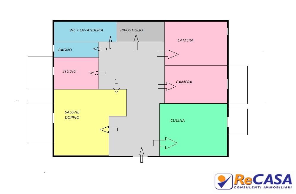 Appartamento in affitto a Montecorvino Rovella, 4 locali, zona Località: Centro, prezzo € 370   Cambio Casa.it